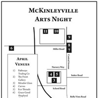 McKinleyville Arts Night McKinleyville Art Night Map