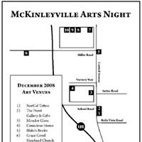 Third Friday McKinleyville Arts Night McKinleyville Arts Night map, Dec. 2008