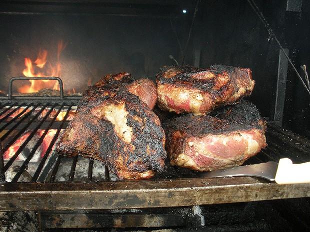 Meat pile at Wild Oaks. - JENNIFER FUMIKO CAHILL