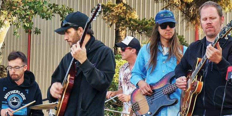 "Members of Motherlode play some funk for the crowd at the Humboldt County Fair Saturday, Aug. 23. despite being misidentified in the program as a ""country"" band called ""Mother Lode."""