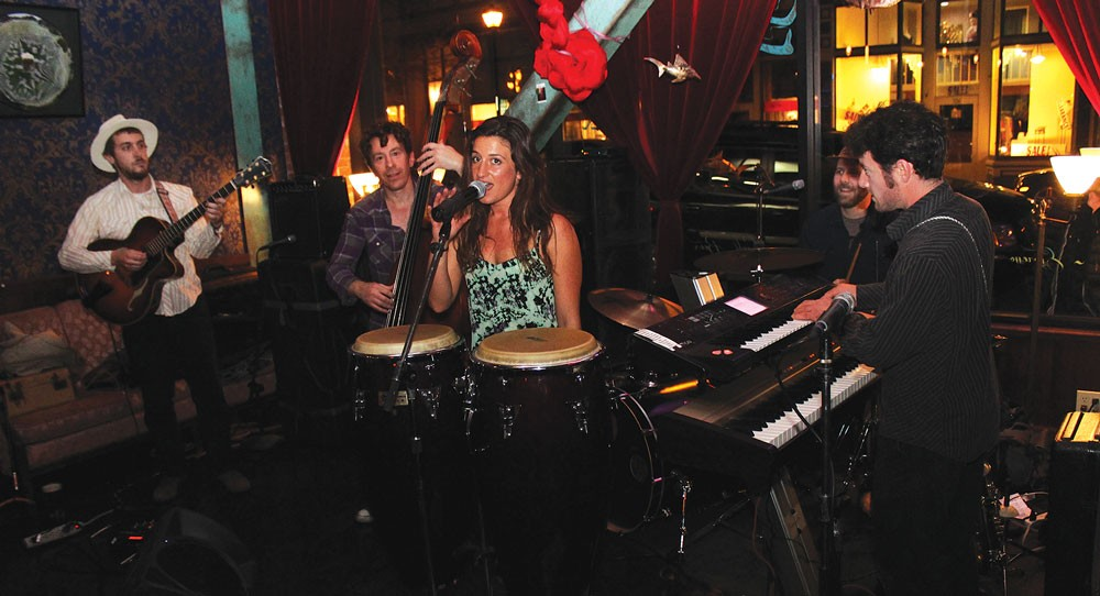 Mia Gianna Casasanta sings something jazzy with The Hip Joint during Saturday's Arts Alive! on April 5 at Siren Song's Tavern. - PHOTOS BY BOB DORAN