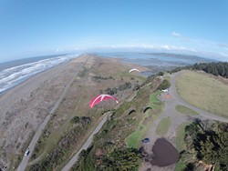 PHOTO COURTESY OF KEVIN BIERNACKI - Mid-air badassery along the coastline.
