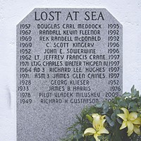 The Plane That Wasn't There Milushev and Gustafson's names were added to the Trinidad lighthouse memorial. Photo courtesy of Richard Collier.