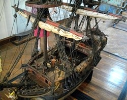 PHOTO BY BARRY EVANS - Model of the type of Spanish galleon used on the Manila-to-Acapulco trade route, in Museo Histórico de Acapulco.