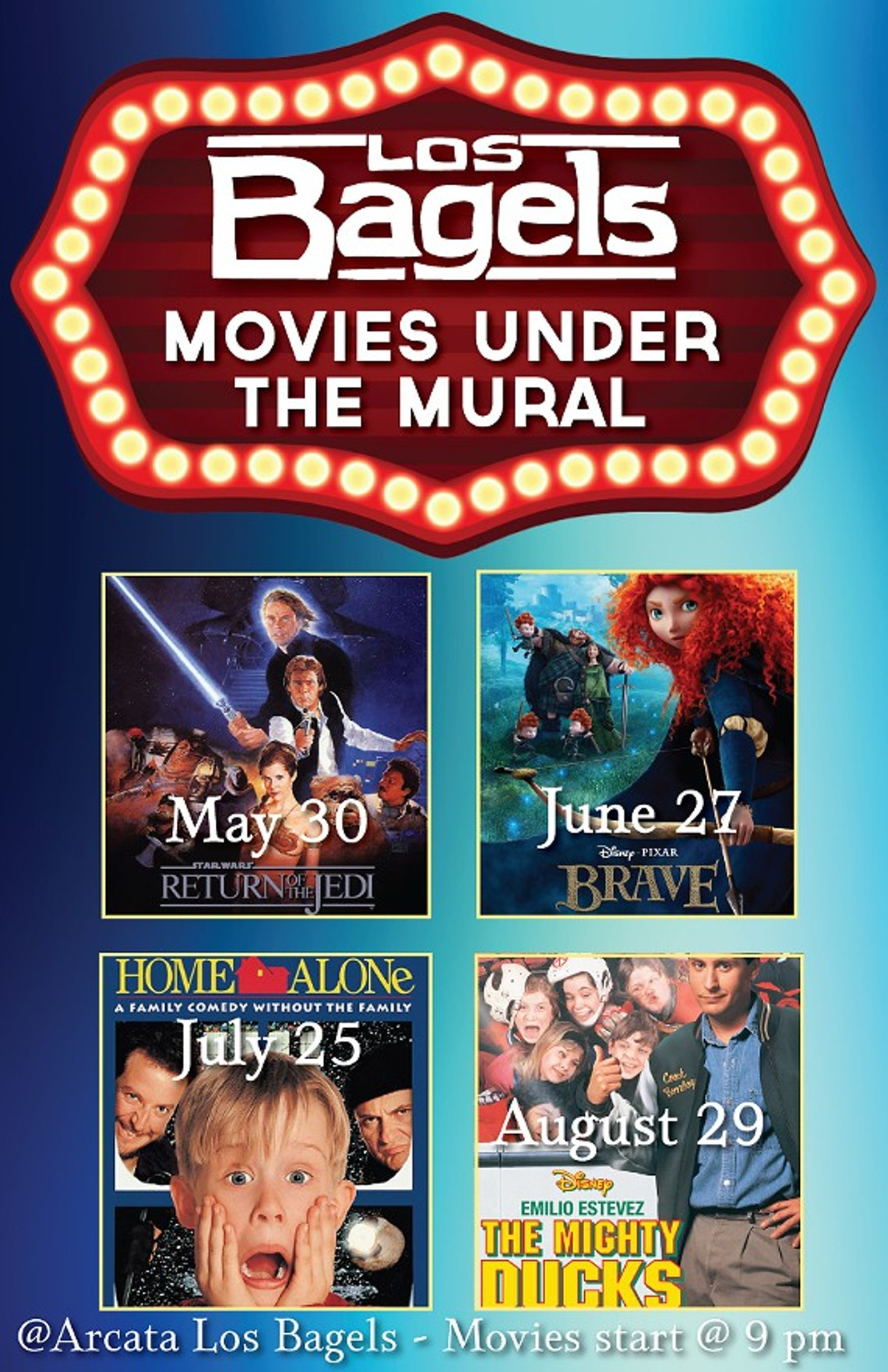 Movies under the mural los bagels arcata movies for Mural film
