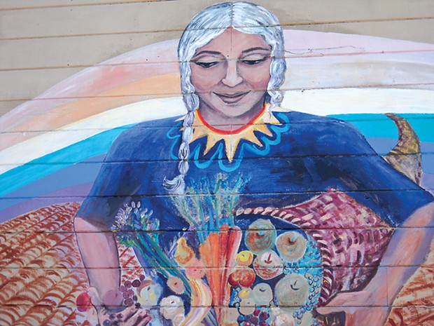 Mural at Food For People - PHOTO COURTESY OF FOOD FOR PEOPLE