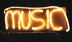 Music lights up the night. Photo by Bob Doran