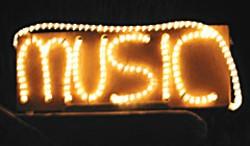 Music lights up the night. Photo by Bob Doran