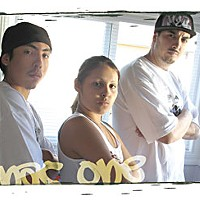 Humboldt Hip Hop Nac-one (right), daughter Mystique and son Mischief Mike. Photo by Bob Doran.