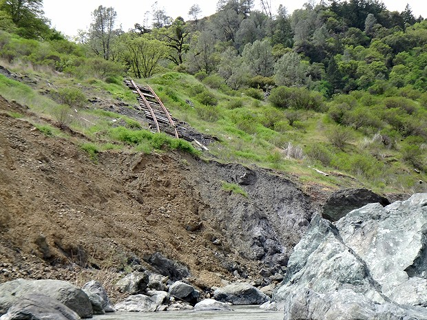 Here's what the NCRA line looks like in the Eel River Canyon. - RICK SANCHEZ