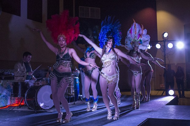 Samba Quente closing out their opening performance at the Cirque Disco-leil event Saturday.