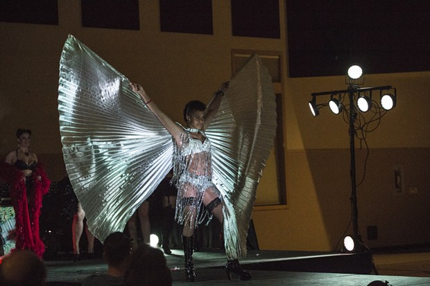 The Good Relations Burlesque Fashion Show with Va Va Voom featured a stunning finale. - ALEXANDER WOODARD