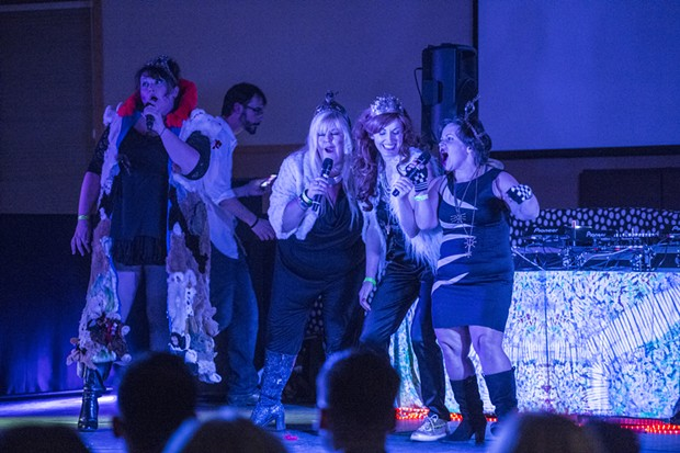 The Beatbox Queens lay down an original track for attendees Saturday evening. - ALEXANDER WOODARD