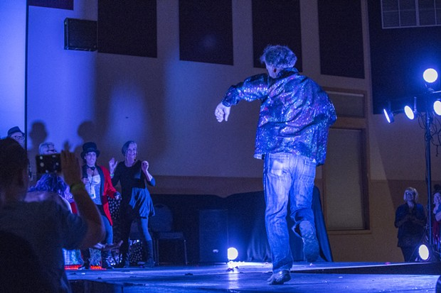 """Arcata Director of Environmental Services Mark """"Wonder"""" Andre competes in a randomly selected dance off. - ALEXANDER WOODARD"""