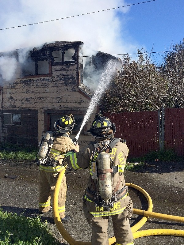 Humboldt Bay Fire investigators determined arson to be the fire's cause. - MARK MCKENNA