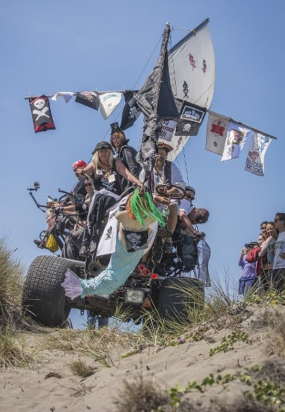 "The Lost Coast Mutineers powers over ""June's Dunes"" last year. - MARK LARSON"