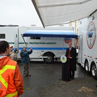 North Coast Congressman Jared Huffman thanked the agencies involved the pulp mill clean up.