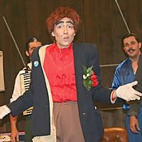Glasnost Nico (Liza Bielby) is Glasnost Band Manager; photo by Bob Doran