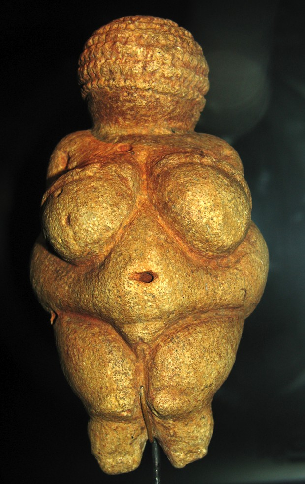 "No image problem 23,000 years ago, when the ""Venus of Willendorf"" was made! Found in Austria in 1908, she's four inches high and carved from oolitic limestone. - DON HITCHCOCK, WIKIMEDIA COMMONS"