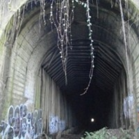 Northeast portal of tunnel today.