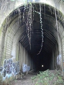 PHOTO BY BARRY EVANS - Northeast portal of tunnel today.