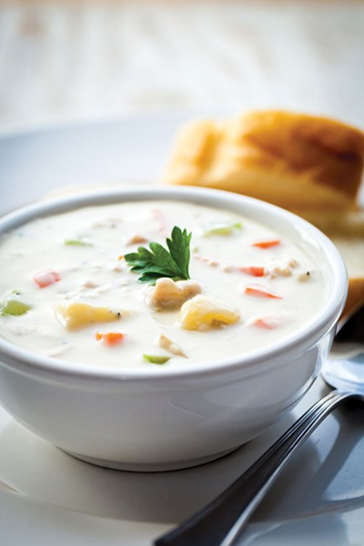 Oberon Grill's clam chowder. - PHOTO BY AMY KUMLER