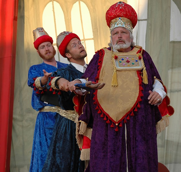 Odd Fellows - David Belton Powell, Tyler Olsen and Michael Fields in Blue Lake: the Opera - PHOTO BY JAMES DOUGLAS