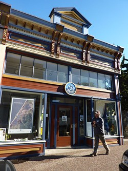PHOTO BY RYAN BURNS - On Monday, Humboldt Baykeeper's office on E Street in Eureka sat empty and dark.