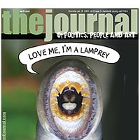 Love Me, I'm a Lamprey On the cover: A Pacific lamprey eel caught by traditional eel-hook fishing at the mouth of the Klamath River. Photo by Thomas B. Dunklin, www.thomasbdunklin.com