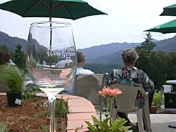 On the terrace of Winnett Winery. Photo by Helen Sanderson