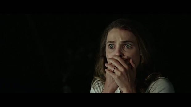 """Oops, I swallowed the flashlight!"" Keri Russell in Dark Skies."