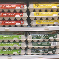 Grocers and lifestyles Organic eggs at Eureka Natural Foods.