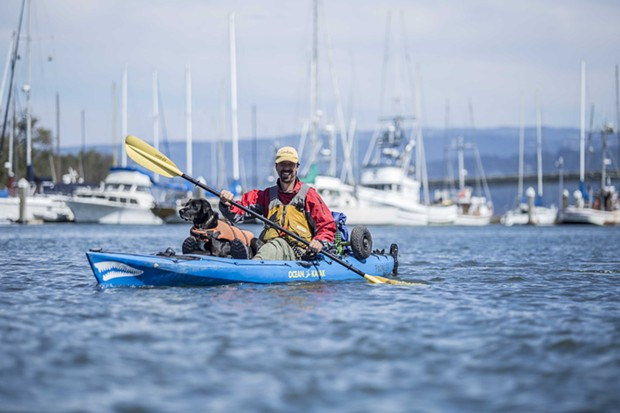 HSU Center Activities sponsored Paddlefest and provided paddleboards, kayaks, canoes and other watercraft for the public to enjoy in Humboldt Bay in Eureka, Sat. Sept. 13.