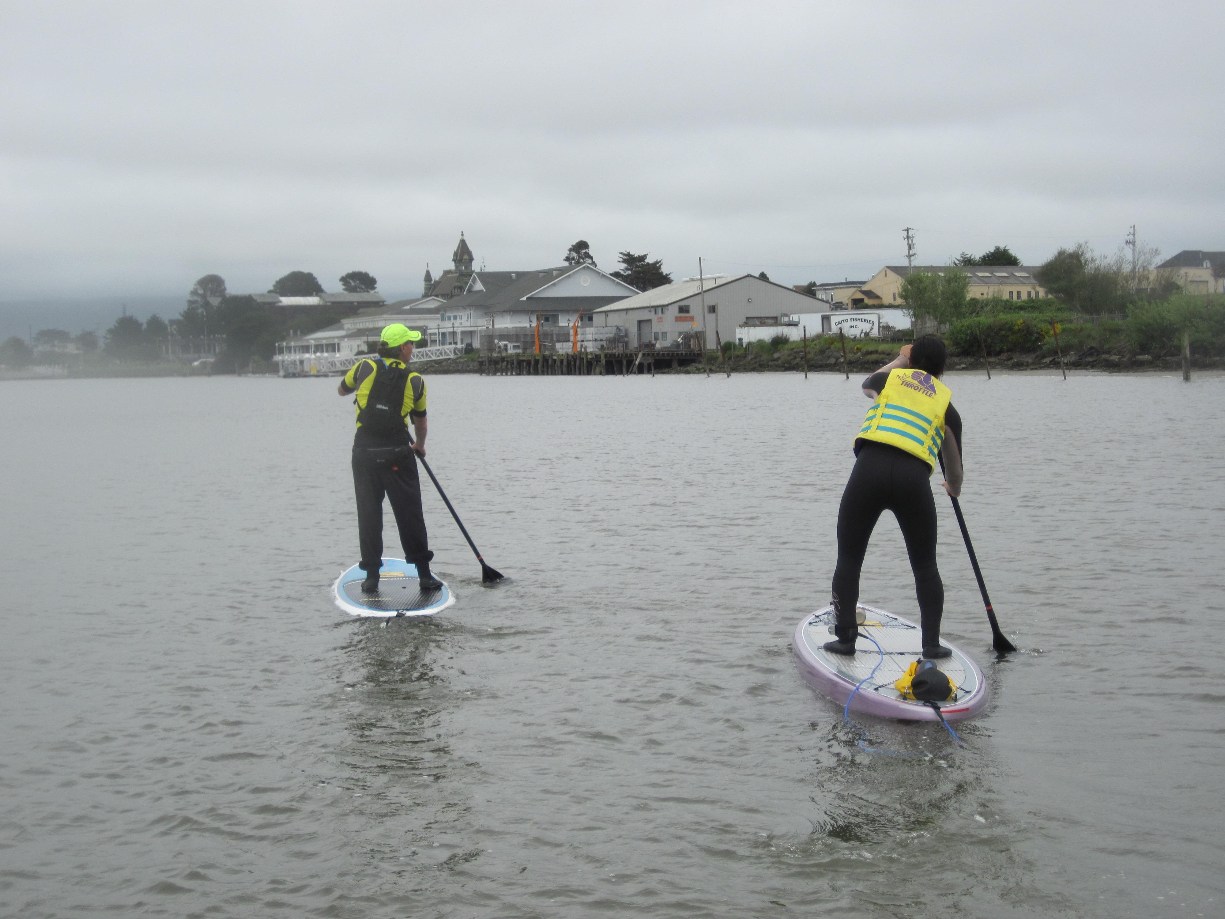 Patricia Cheng Terry paddles with Tim Haywood. - PHOTO BY AMY CIRINCIONI