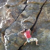 Patricia Terry climbs Wedding Rock