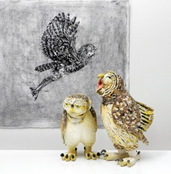 Paula Wenzl Bellacera puts more than a bird on it. Her charcoal drawings and ceramic sculptures of birds of prey are at the Morris Graves Museum. (2)