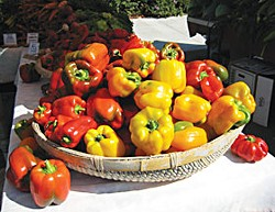 Peppers at the Farmers' Market. Photo by Bob Doran.