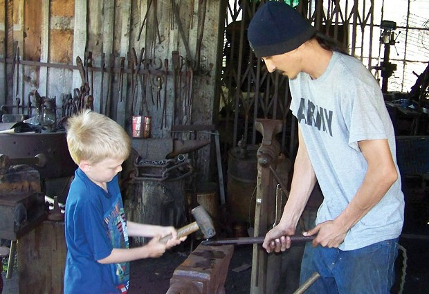 Blacksmithing at Blue Ox Millworks - PHOTO COURTESY OF BLUE OX MILLWORKS