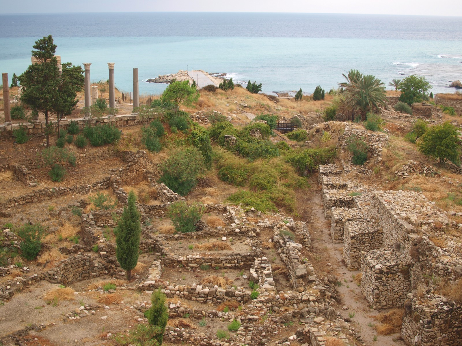 Phoenician port of Byblos, in present-day Lebanon. We may speak English the way we do because Semitic-speaking Phoenicians learned Proto-Indo-European, which they then passed on to their kids. - PHOTO BY BARRY EVANS