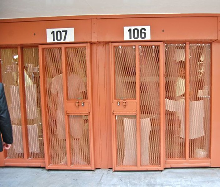 Prisoners inside one of Pelican Bay's Secure Housing Units. - FILE PHOTO