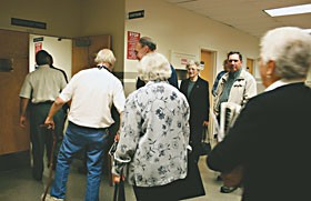 Prospective Grand Jurors file into courtroom 3. Photo by Yulia Weeks.