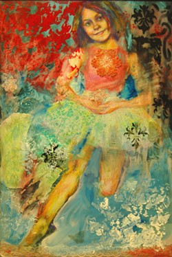 "Rachel Schlueter's ""Zaila,"" mixed media on canvas."