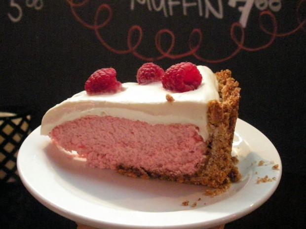 Raspberry cheesecake — share it. She'll make more. - JENNIFER FUMIKO CAHILL