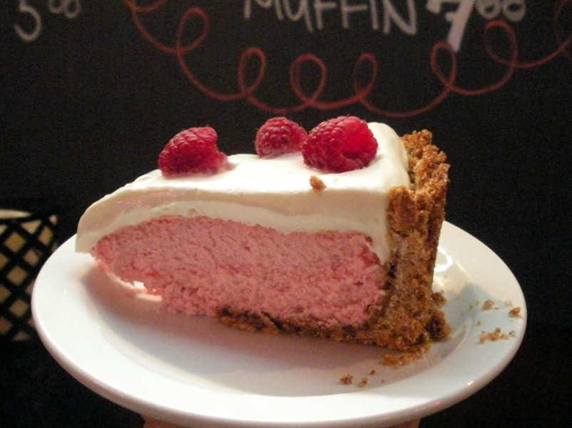 Raspberry cheesecake — share it. She'll make more. - JENNIFER FUMIKO CAHILL