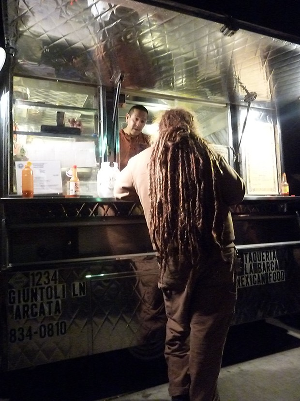Red Rasta places his order - PHOTO BY BOB DORAN