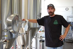 PHOTO BY ANDREW GOFF - Redwood Curtain Brewery co-owner/brewer Eli LaRue.