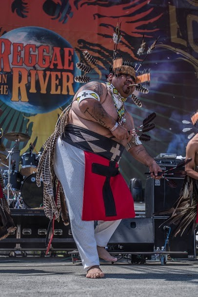 The Feather Dancers of Round Valley opened up the 30th Annual Reggae On The River 2014, Friday Aug.1. - ALEXANDER WOODARD