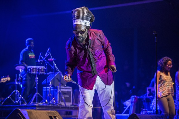 Michael Rose performing on the first evening of the 30th Annual Reggae On The River 2014, Friday Aug. 1.
