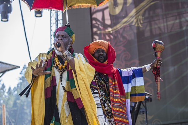 Mutabaruka performing at the 30th Annual Reggae On The River 2014, Sunday Aug. 3.