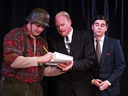 Rigel Schmitt as Franz, David Powell as Max and Ethan vaughn as Leo in North Coast Rep's The Producers. Photo courtesy NCRT